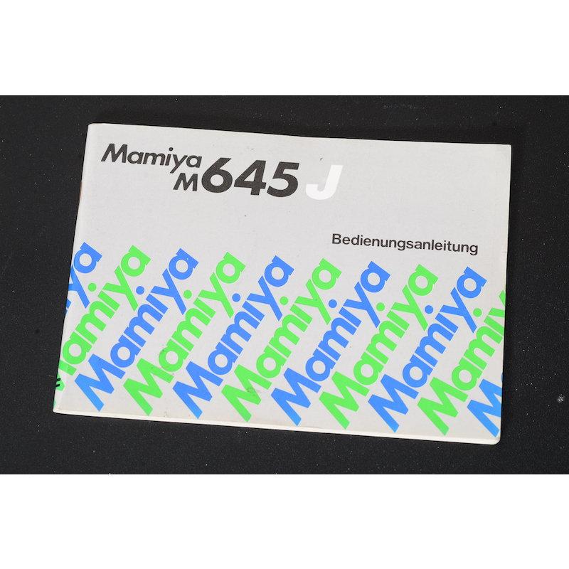 Mamiya Anleitung M645 J