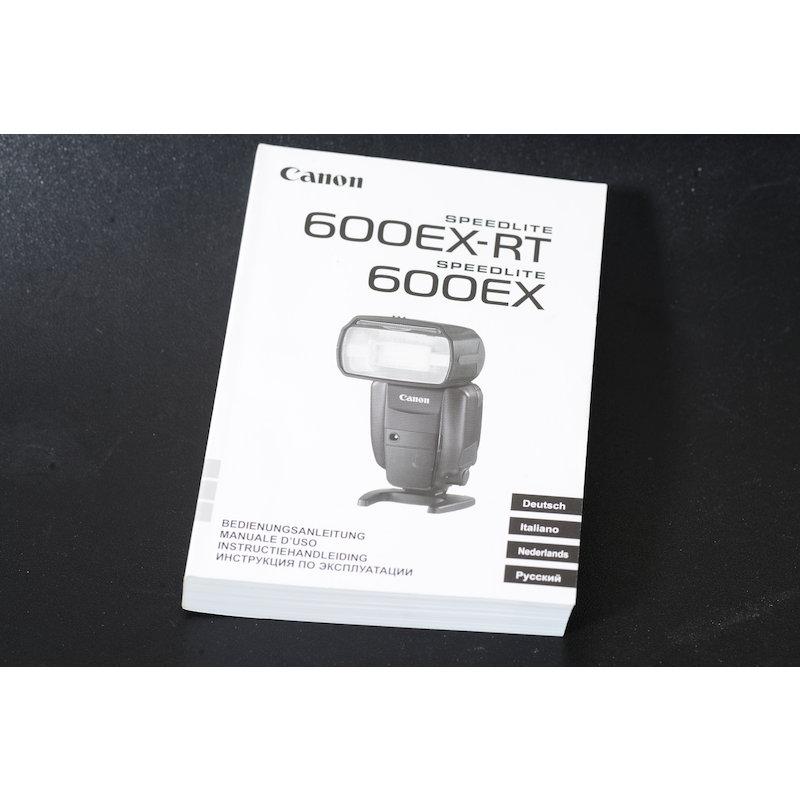 Canon Anleitung Speedlite 600EX-RT