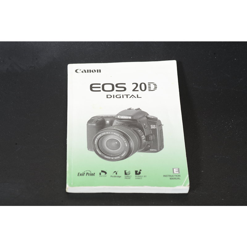 Canon Anleitung EOS 20D (Englisch)