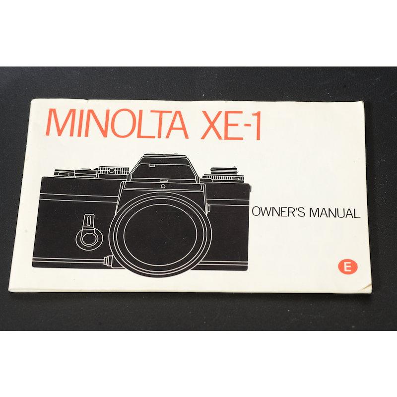 Minolta Anleitung XE-1 (Englisch)