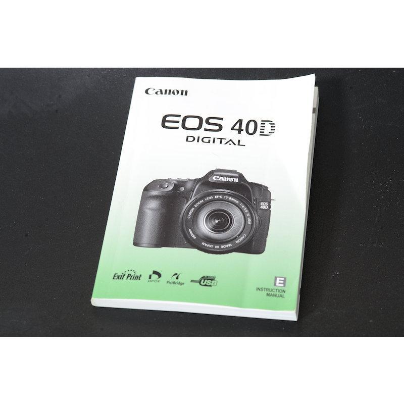 Canon Anleitung EOS 40D (Englisch)