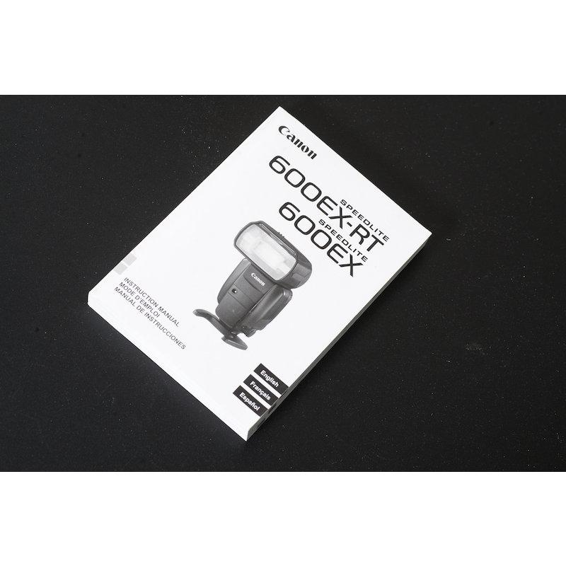 Canon Anleitung Speedlite 600EX-RT (Englisch/Französisch/Spanisch)