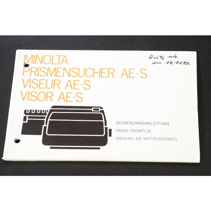 Minolta Anleitung AE-S Prismensucher XM