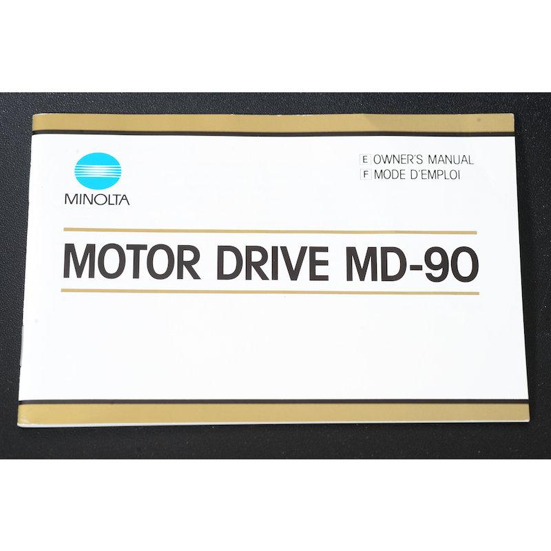 Minolta Anleitung Motor Drive MD-90 (Englisch/Französisch)