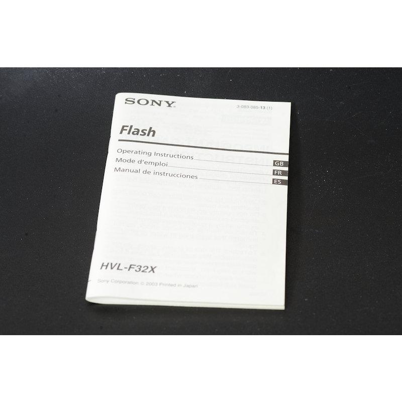 Sony Anleitung Programm Blitz HVL-F32X (Englisch)