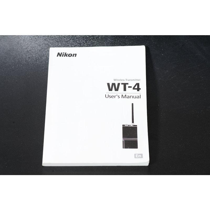 Nikon Anleitung Wireless-Lan-Sender WT-4 (Englisch)