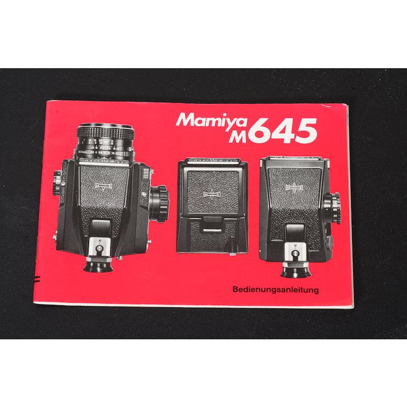 Mamiya Anleitung M645