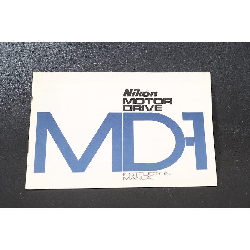 Nikon Anleitung Motor Drive MD-1 (Englisch)