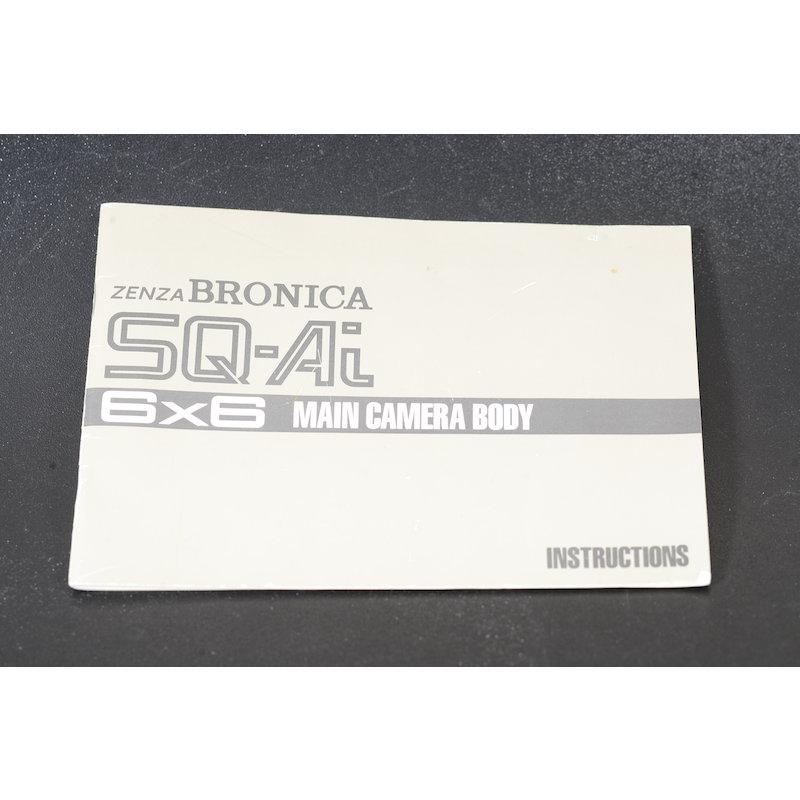 Bronica Anleitung SQ-Ai (Englisch)