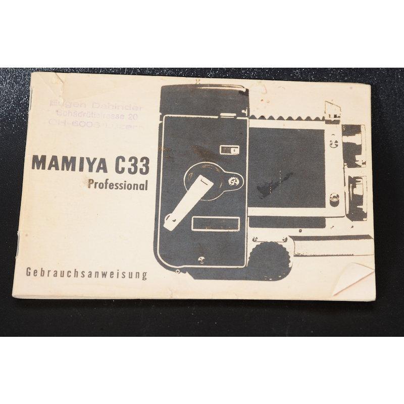 Mamiya Anleitung C33