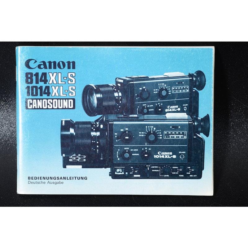 Canon Anleitung Canosound 814XL-S/1014XL-S