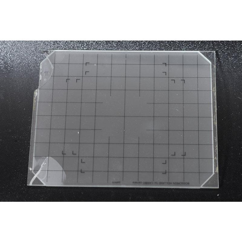 Bosscreen Einstellscheibe Netz 4x5 (Bruchstellen am Rand)