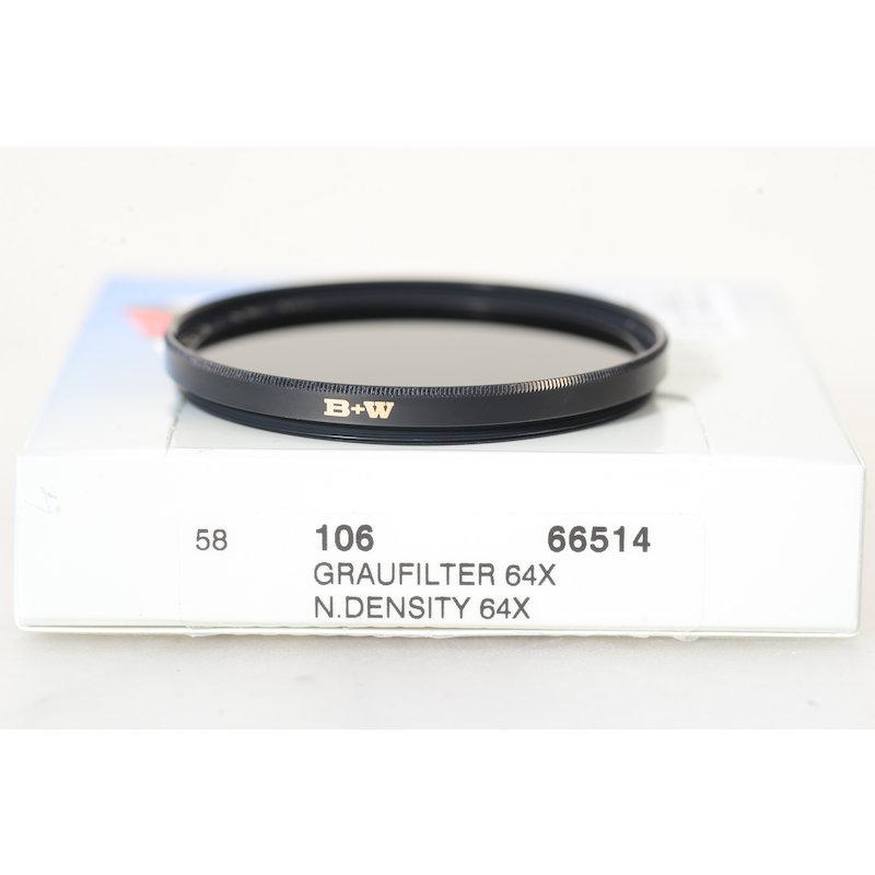 B+W Graufilter 106 64x E-58 #66514