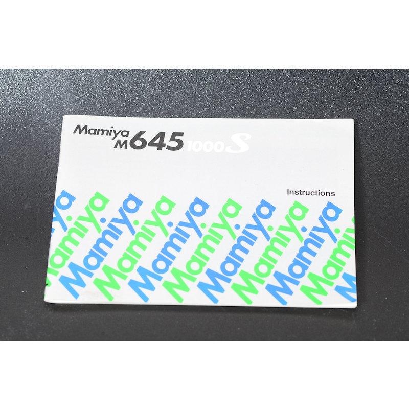 Mamiya Anleitung M645 1000 S (Englisch)
