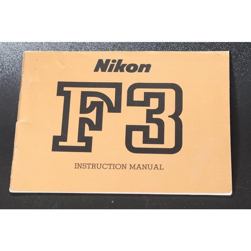 Nikon Anleitung F3 (Englisch)