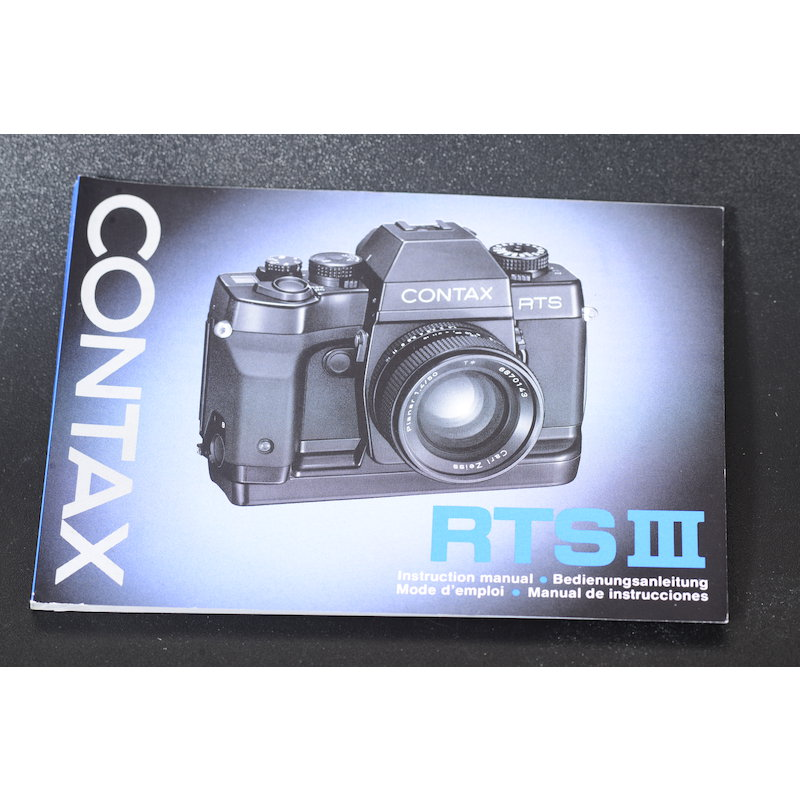 Contax Anleitung RTS III