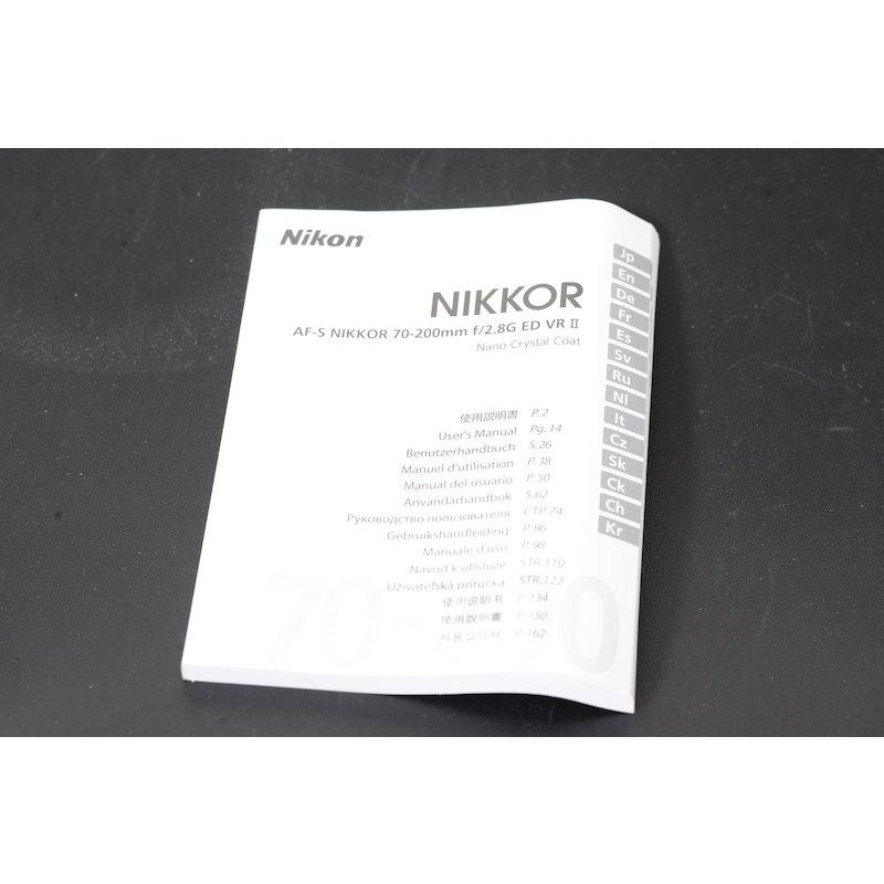 Nikon Datenblatt AF-S 2,8/70-200 II G IF ED