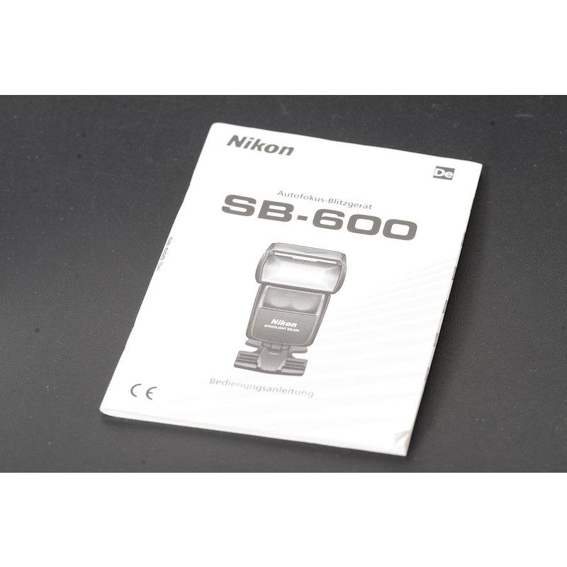 Nikon Anleitung Speedlight SB-600 AF