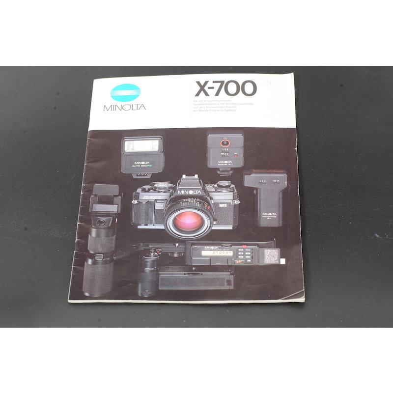 Minolta Prospekt X-700 Die voll programmgesteuerte SLR
