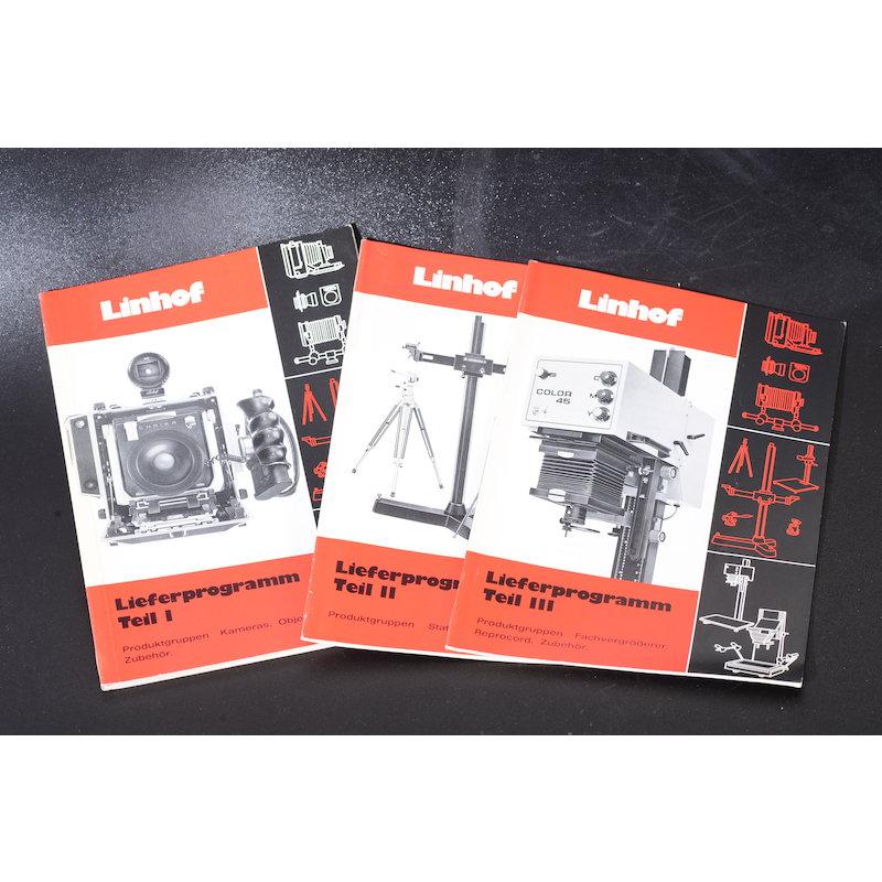 Linhof Lieferprogramm 1979 Teil I/II/III