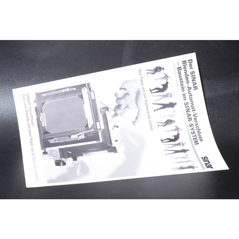 Sinar Prospekt Der Sinar Blenden-Automat-Verschluss