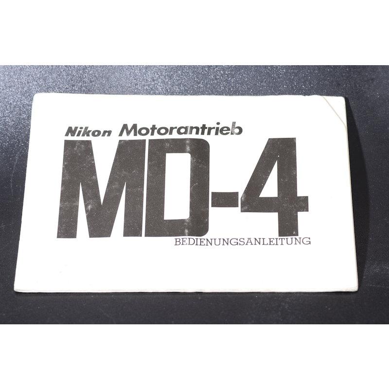 Nikon Anleitung Motor Drive MD-4
