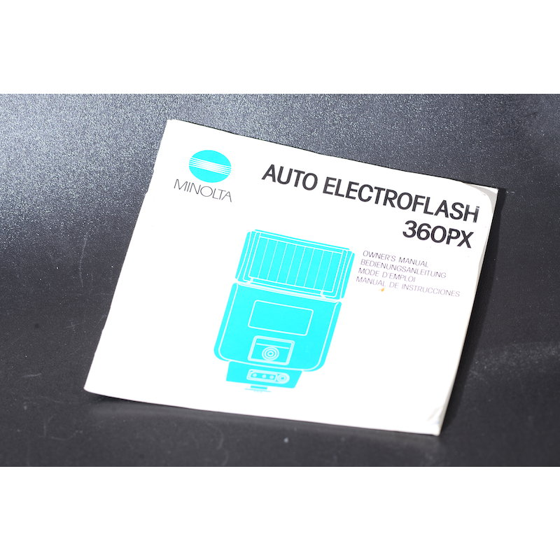 Minolta Anleitung Blitz Auto 360 PX