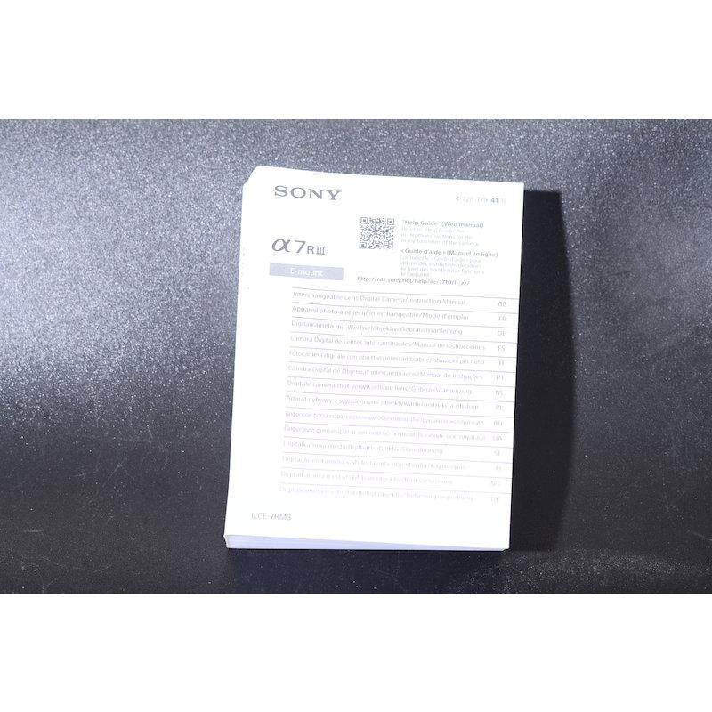 Sony Anleitung Alpha 7R III