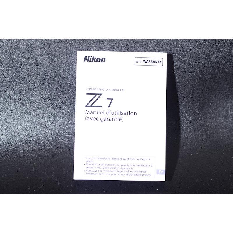 Nikon Anleitung Z7 (Französisch)
