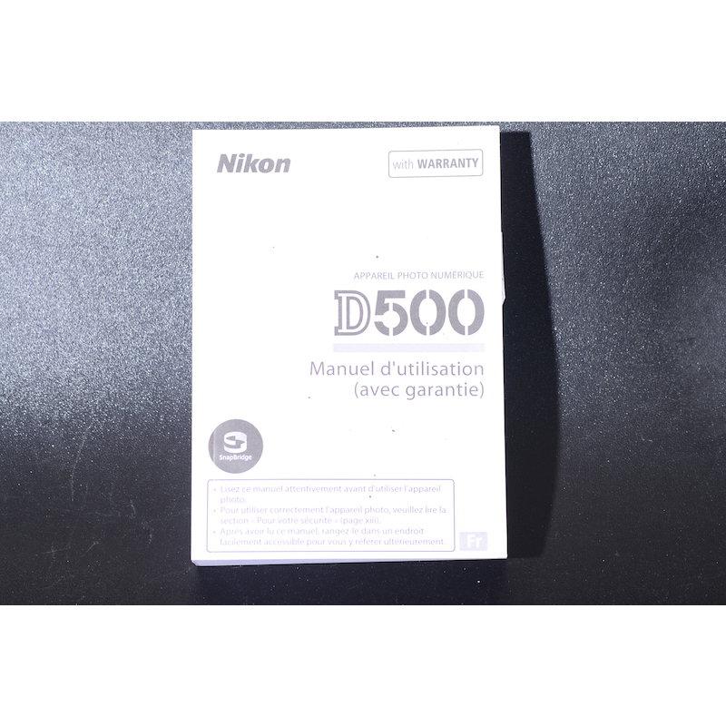 Nikon Anleitung D500 (Französisch)