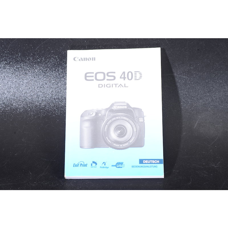 Canon Anleitung EOS 40D