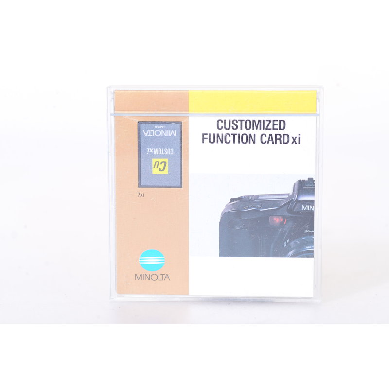 Minolta Chip-Karte Customized Function
