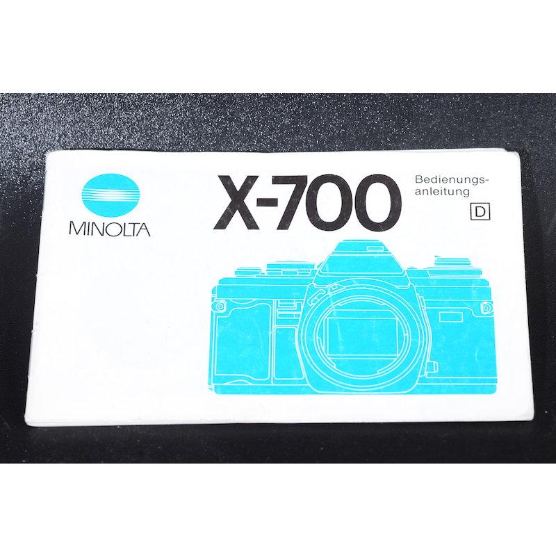 Minolta Anleitung X-700