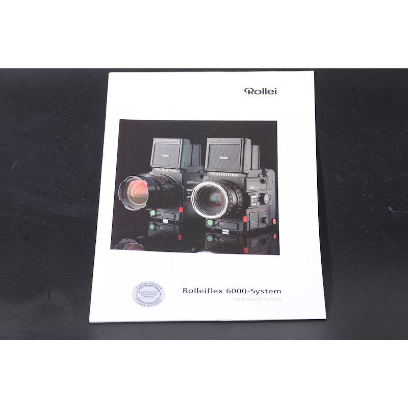 Rollei Prospekt Rolleiflex 6000 System Das Programm für ...