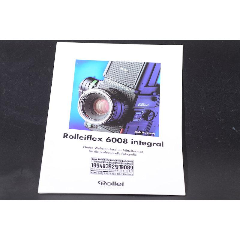 Rollei Prospekt Rolleiflex 6008 Integral
