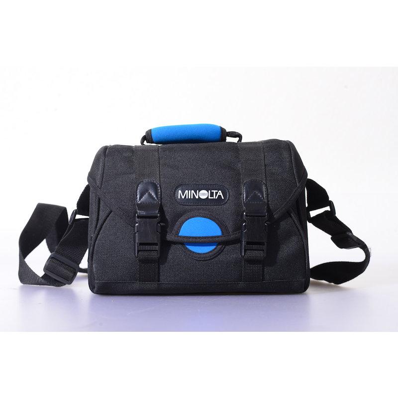 Minolta Kameratasche Schwarz-Blau MB-1