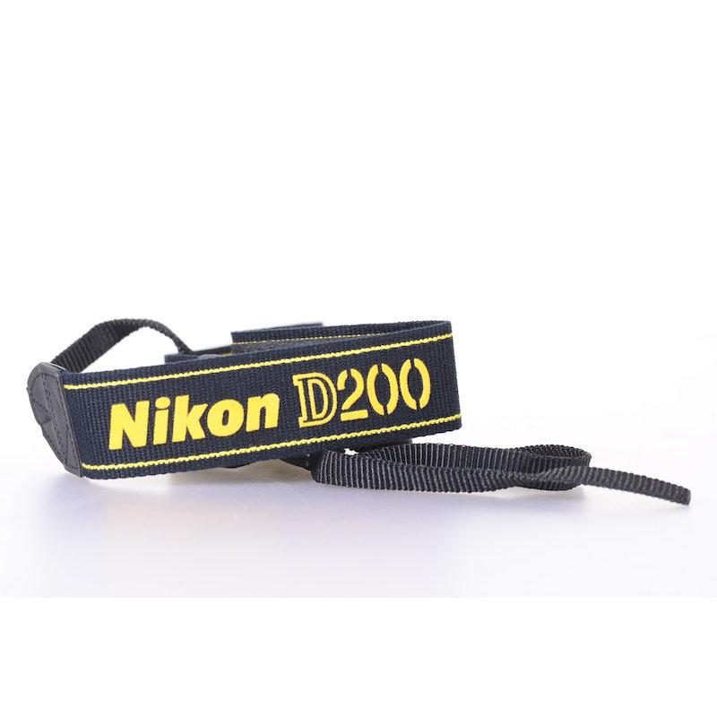 Nikon Trageriemen Gelb-Schwarz D200