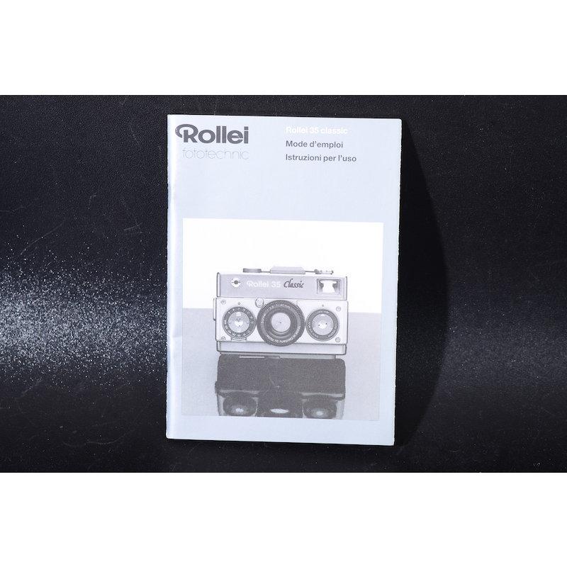 Rollei Anleitung 35 Classic (Französisch)