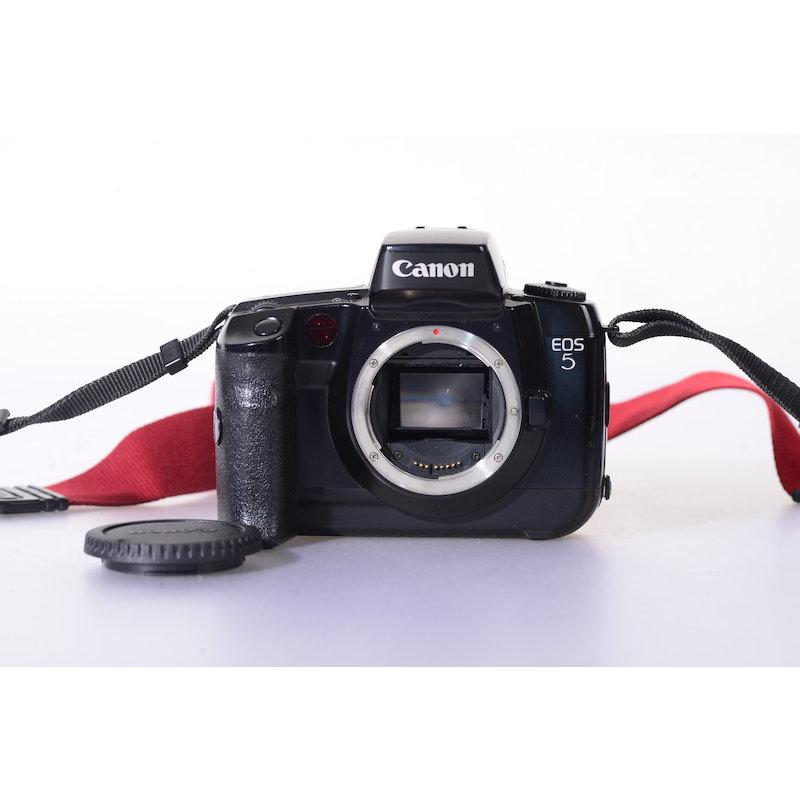 Canon EOS 5 (Sprung im Gehäuse unten rechts)