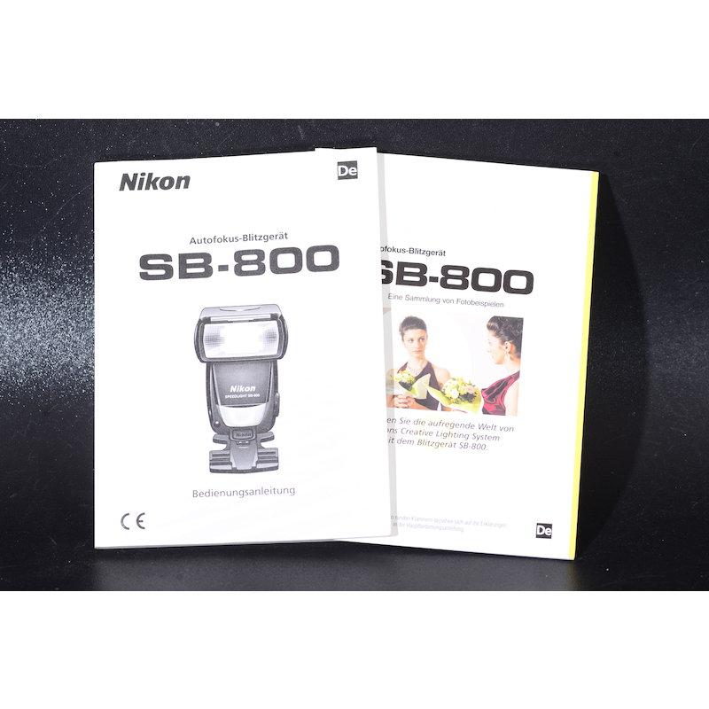 Nikon Anleitung Speedlight SB-800 AF