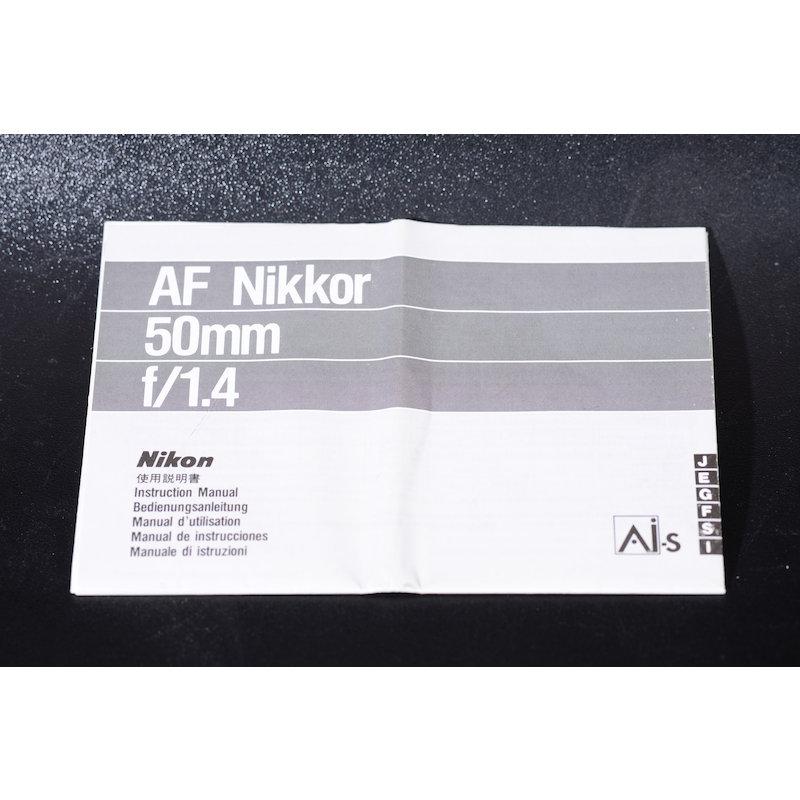 Nikon Datenblatt AF 1,4/50