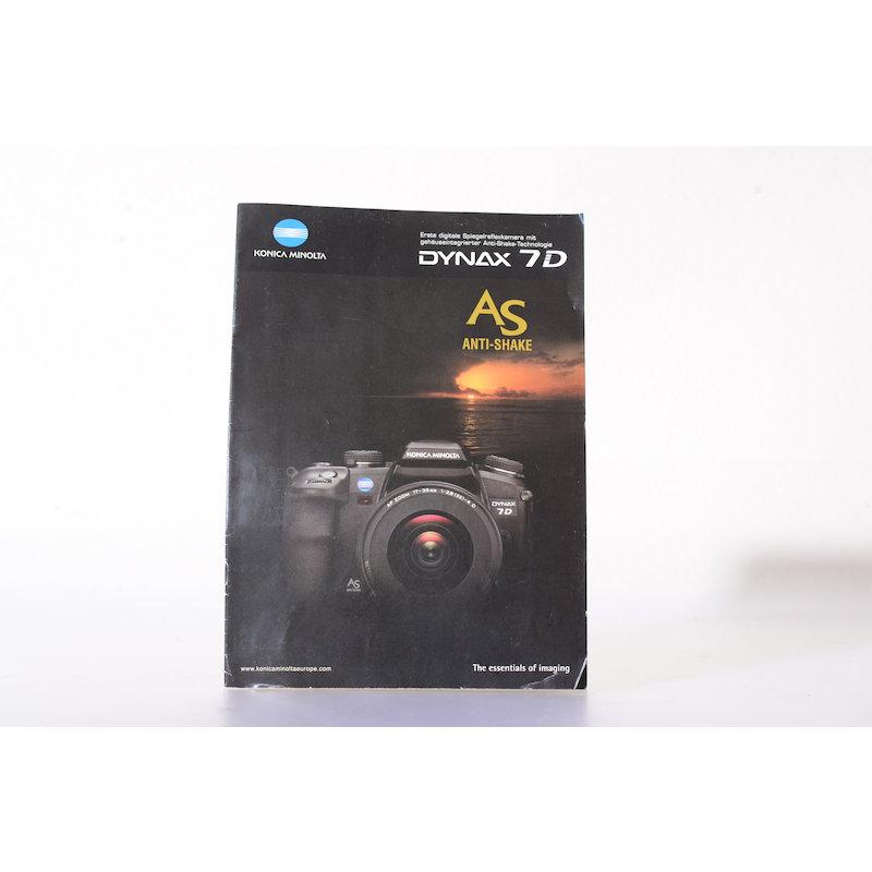 Minolta Prospekt Dynax 7D