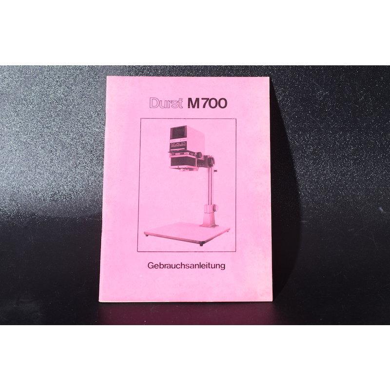 Durst Anleitung Vergrößerer M-700