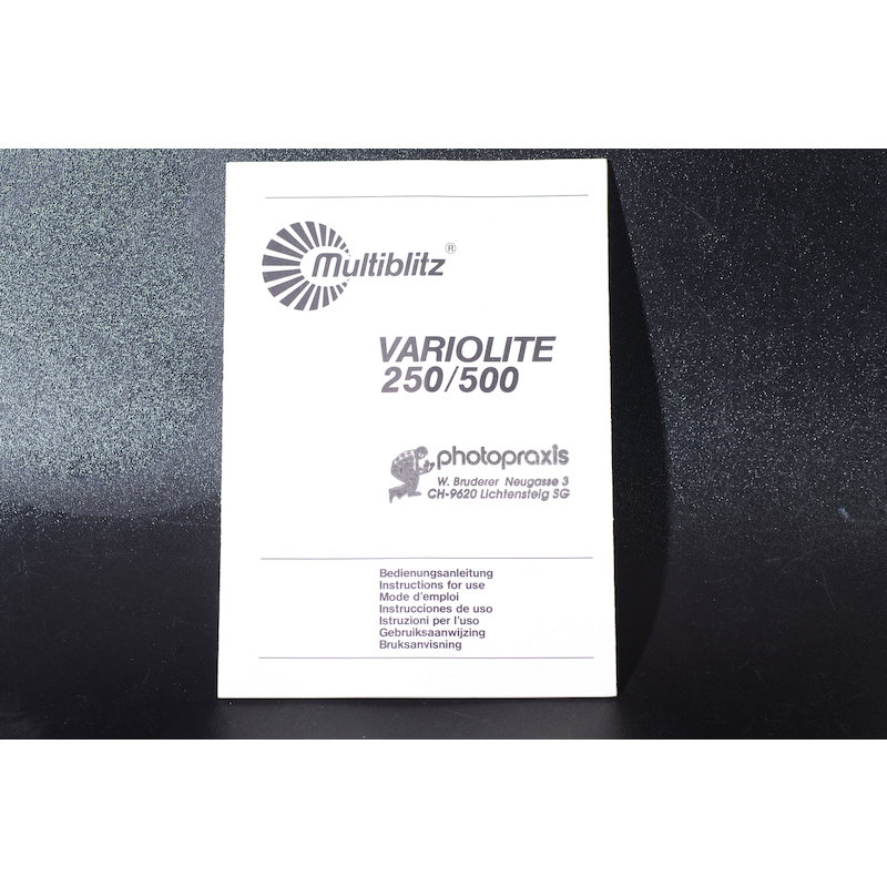 Multiblitz Anleitung Variolite 250/500