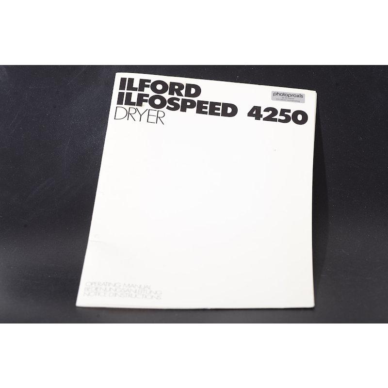 Ilford Anleitung Papiertrockner Ilfospeed 4250