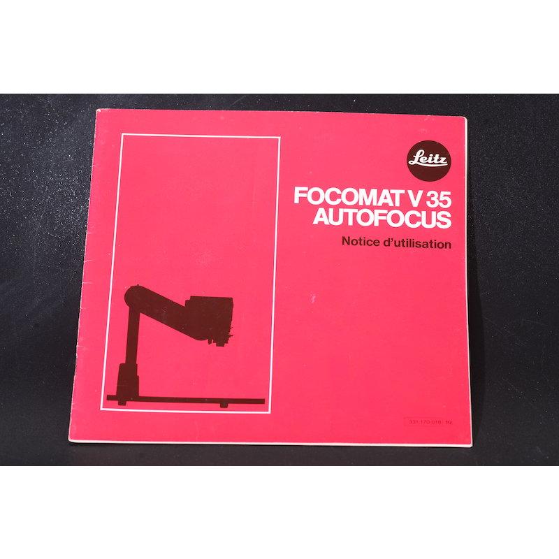 Leica Anleitung Focomat V-35 (Französisch)