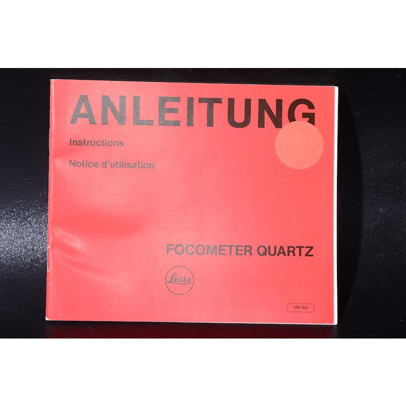 Leica Anleitung Focometer Quartz