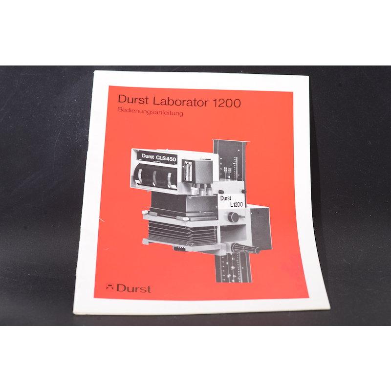 Durst Anleitung Laborator L-1200