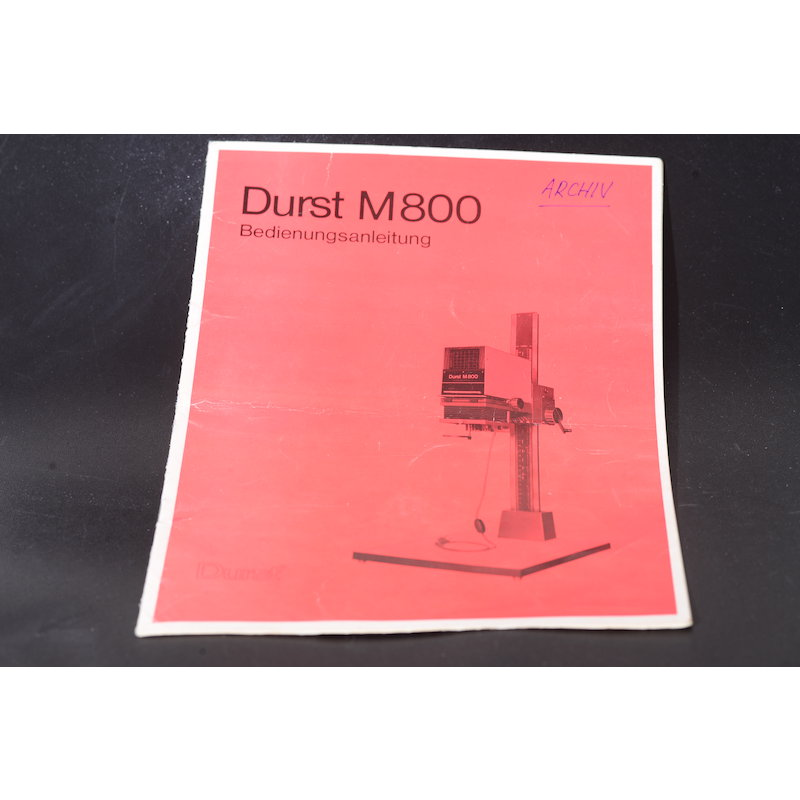 Durst Anleitung Vergrößerer M-800