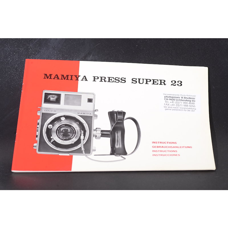 Mamiya Anleitung Press Super 23